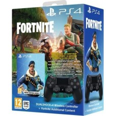 PS4 Wireless DualShock 4 V2 Controller black inkl. Fortnite Neo Versa DLC