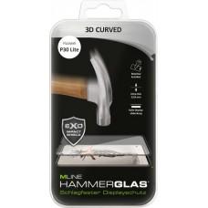 MLINE, 3D Curved Hammerglas - maximal kratzfest - für Huawei P30 Lite, Schwarz